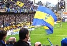 Imágen dentro del Estadio de Boca Jrs en Buenos Aires